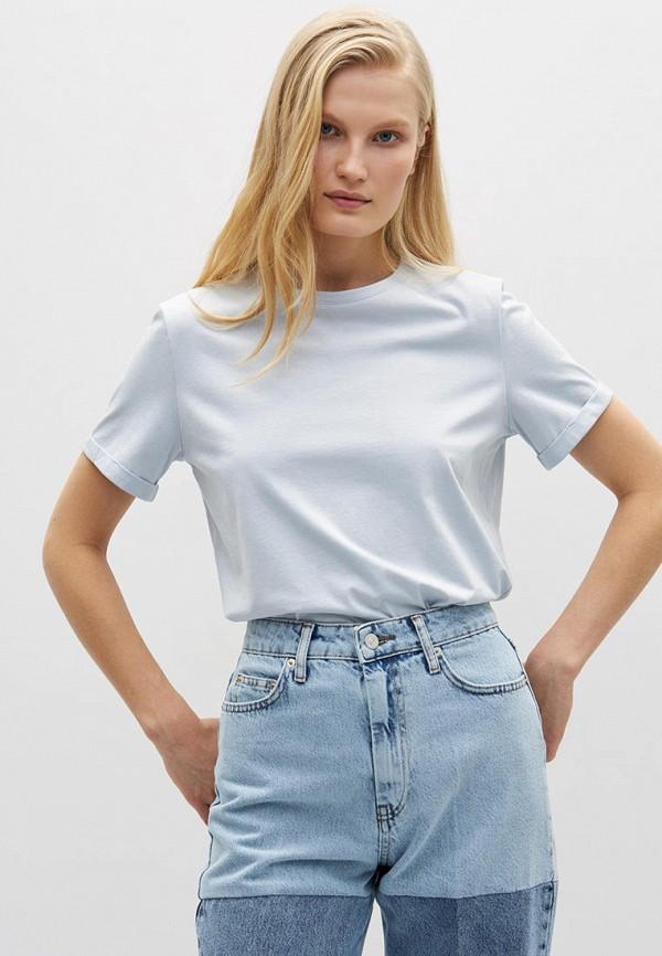 женская футболка lime, голубая