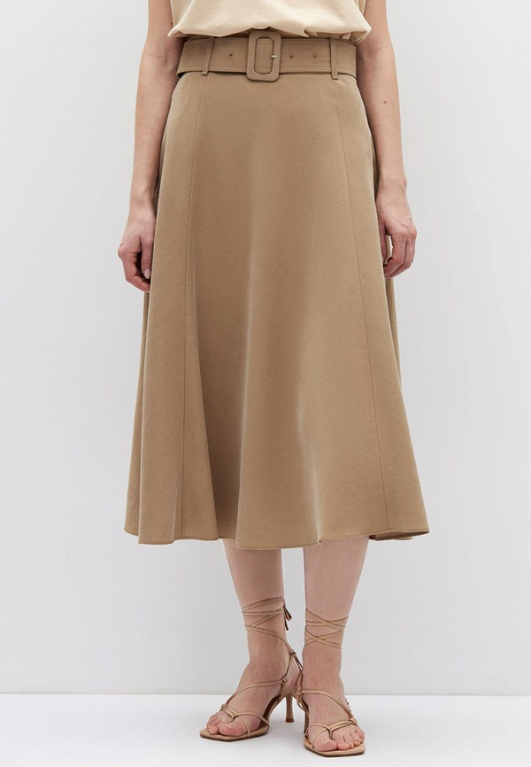женская юбка-трапеции lime, бежевая