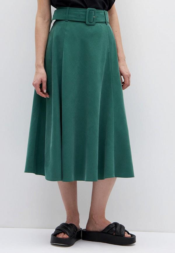 женская юбка-трапеции lime, зеленая