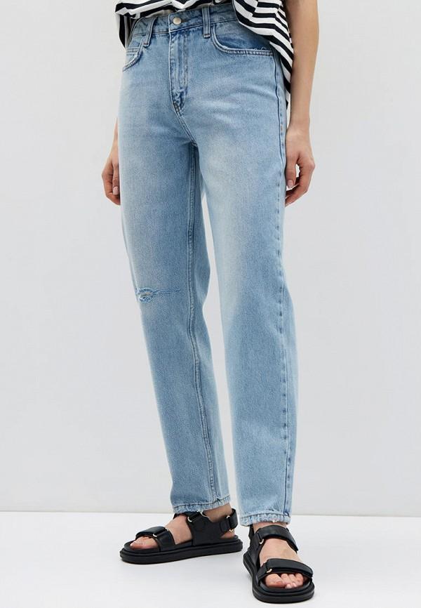женские джинсы бойфренд lime, голубые