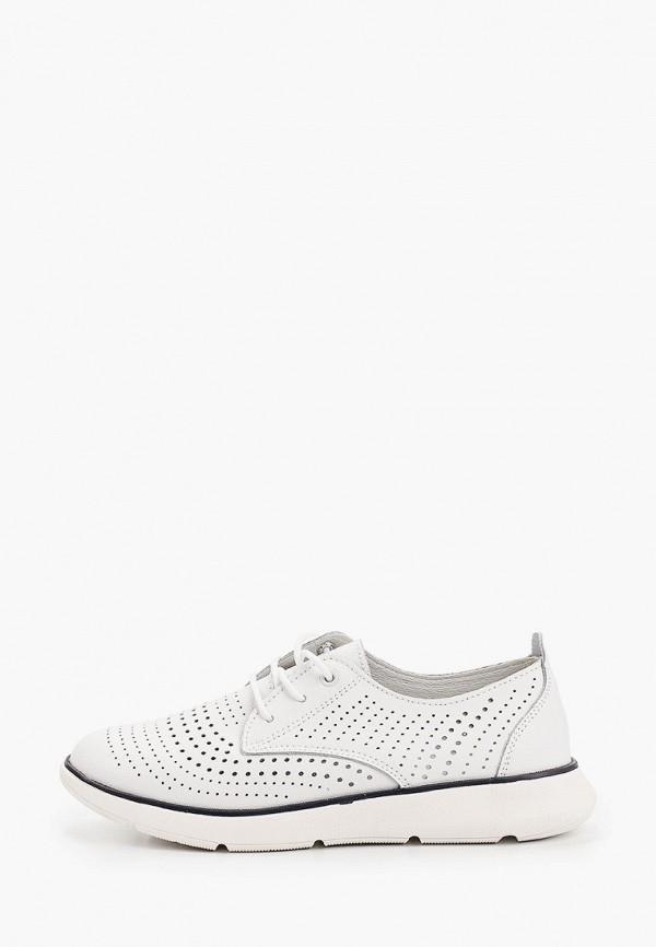 женские низкие ботинки francesco donni, белые