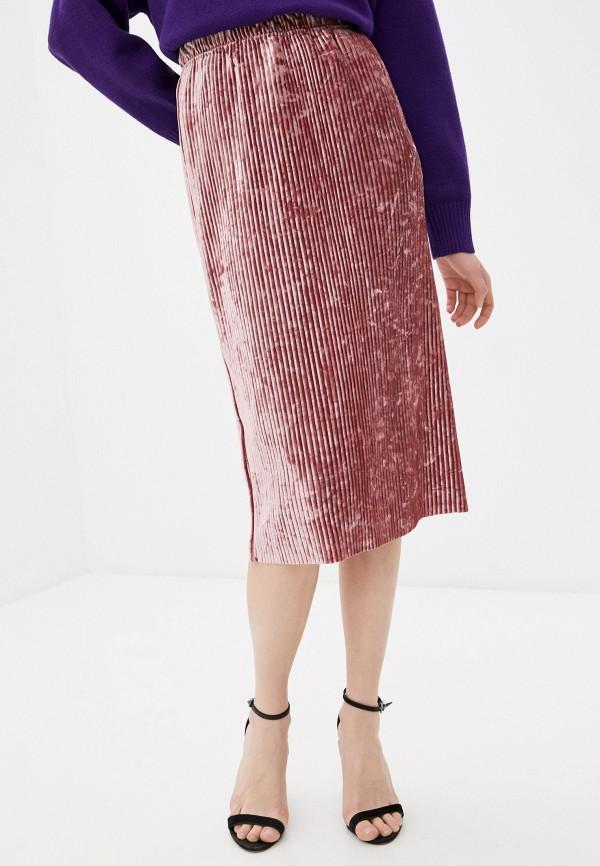 женская плиссированные юбка rodionov, розовая
