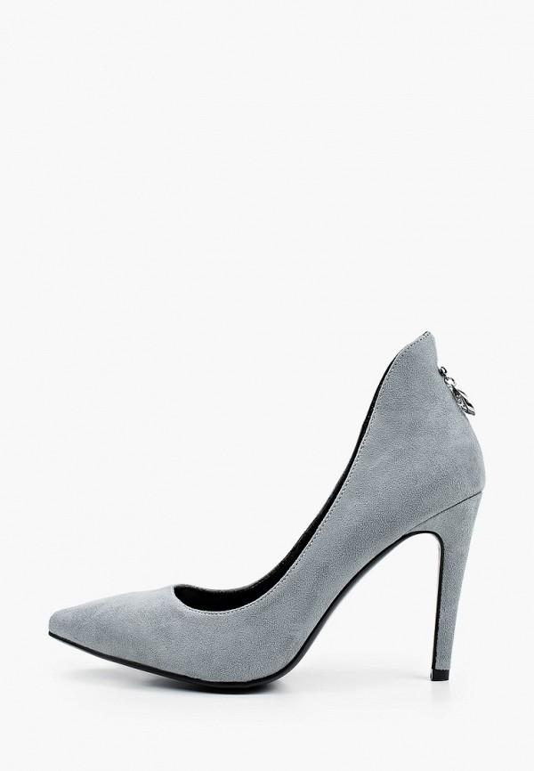 женские туфли-лодочки inario, серые