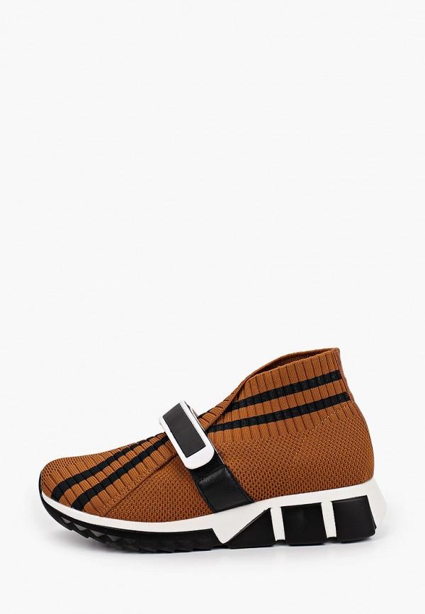 женские кроссовки inario, коричневые