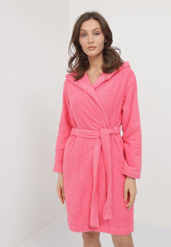 Халат домашний Luisa Moretti розового цвета
