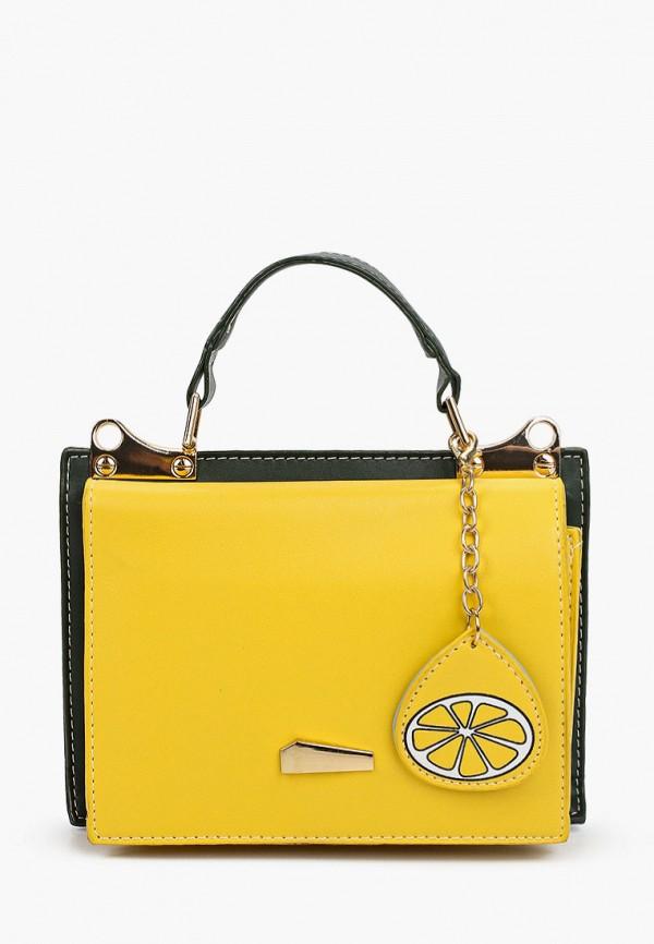 женская сумка с ручками dda, желтая