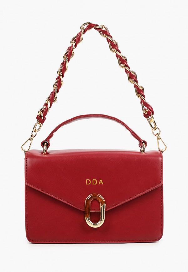 женская сумка с ручками dda, бордовая