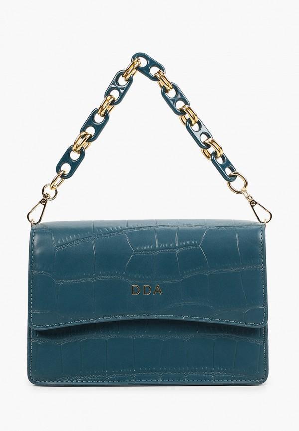 женская сумка через плечо dda, бирюзовая