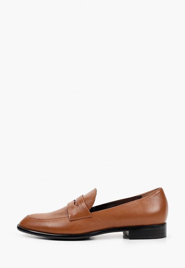 женские лоферы giotto, коричневые