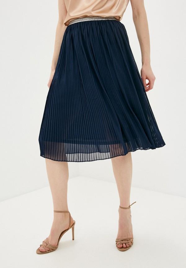 женская плиссированные юбка marlen, синяя