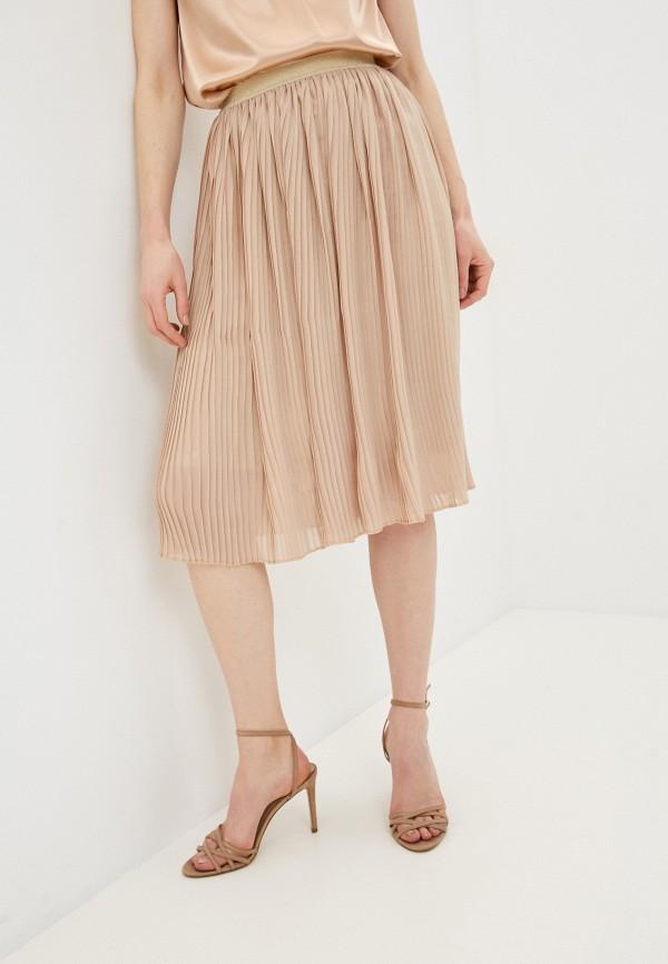 женская плиссированные юбка marlen, бежевая