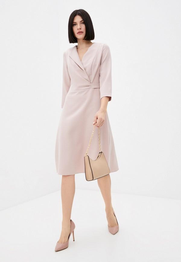 женское платье с запахом marlen, розовое