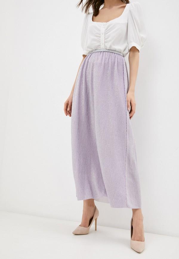 женская юбка-трапеции marlen, фиолетовая