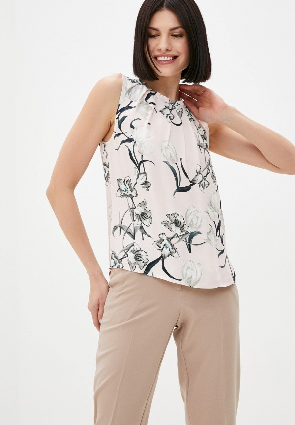 женская блузка без рукавов marlen, розовая