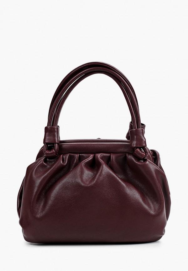 женская сумка с ручками silver finch, бордовая