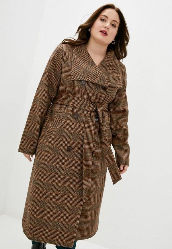 женское пальто jhiva, коричневое
