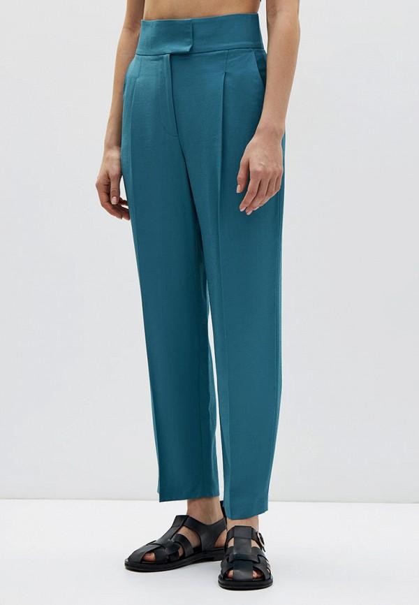 женские повседневные брюки lime, бирюзовые