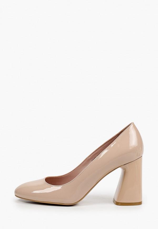 женские туфли с закрытым носом giotto, бежевые