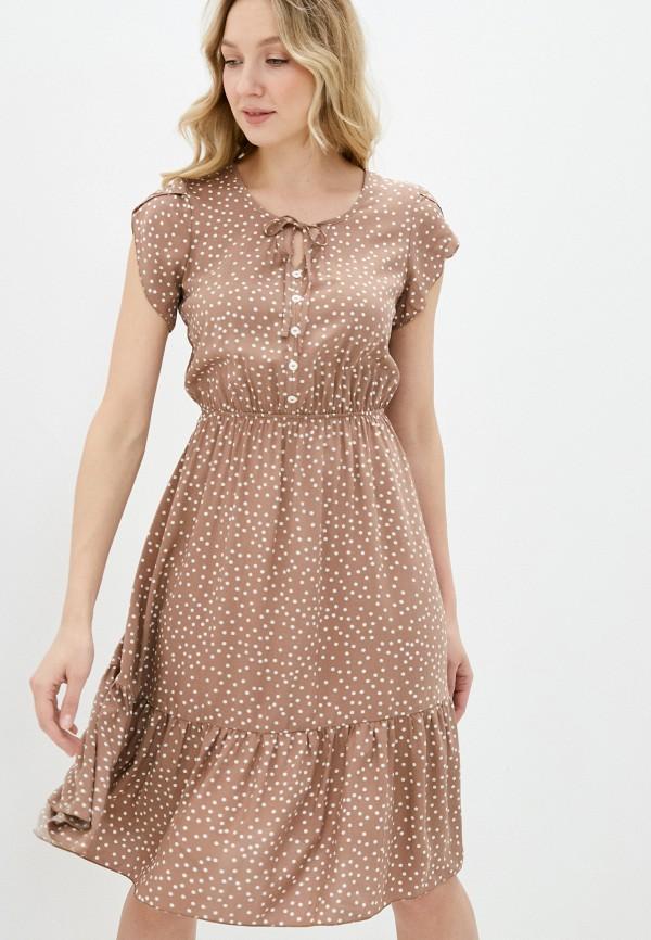 женское повседневные платье miata, коричневое