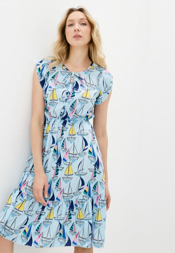 женское повседневные платье miata, голубое
