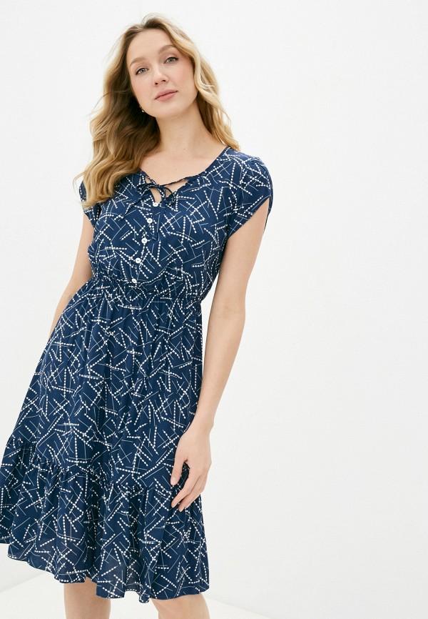 женское повседневные платье miata, синее