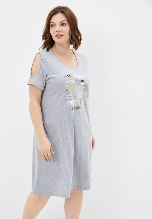 женское платье-футболки miata, серое