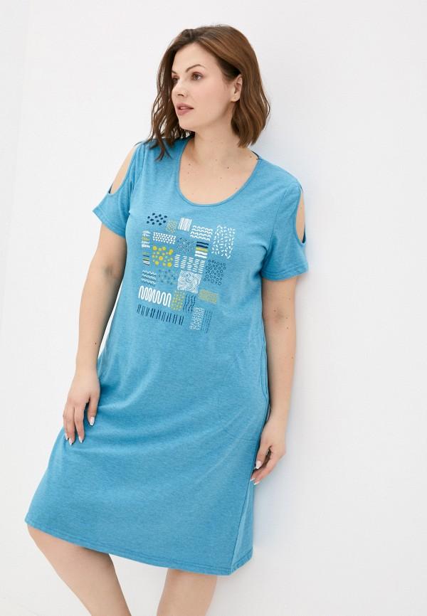 женское платье-футболки miata, голубое