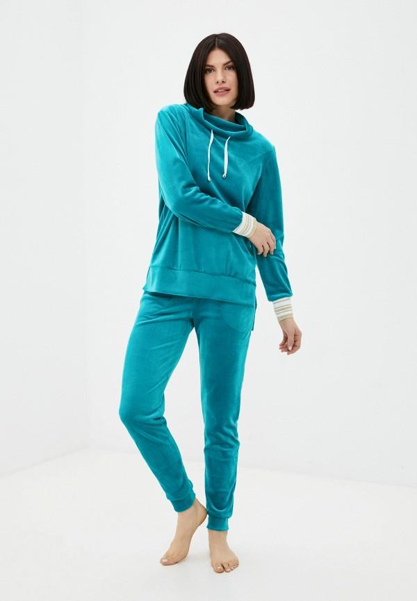 женский спортивный костюм miata, бирюзовый