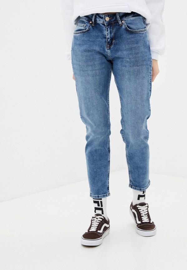женские джинсы бойфренд bochetti, голубые
