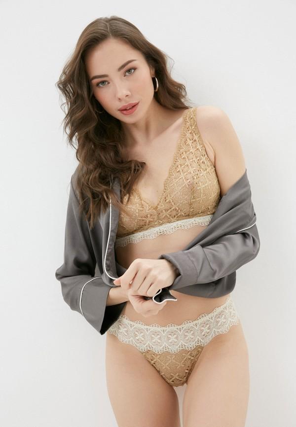 женский бюстгальтер без косточек intimissimi, коричневый