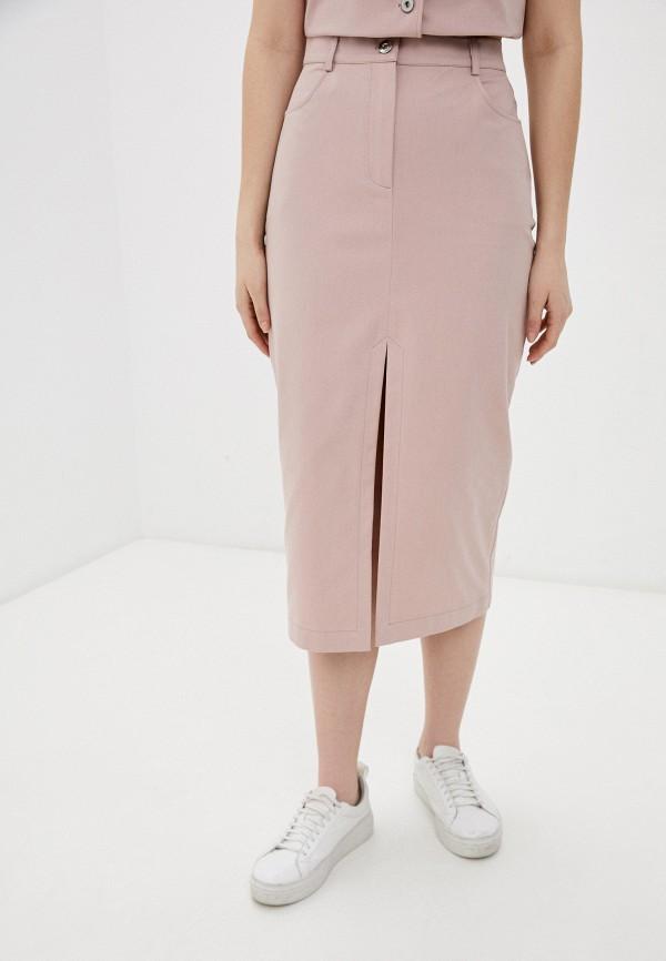 женская прямые юбка raya, розовая