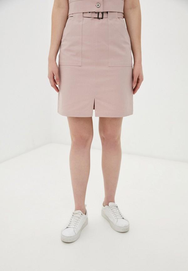 женская джинсовые юбка raya, розовая