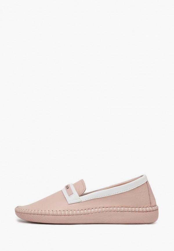женские туфли с закрытым носом alessio nesca, розовые