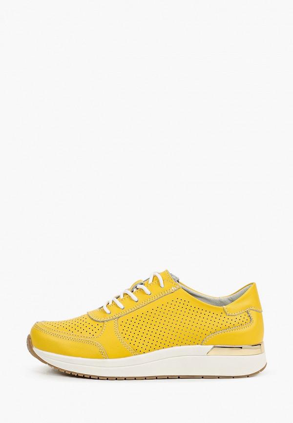 женские низкие кроссовки zenden active, желтые