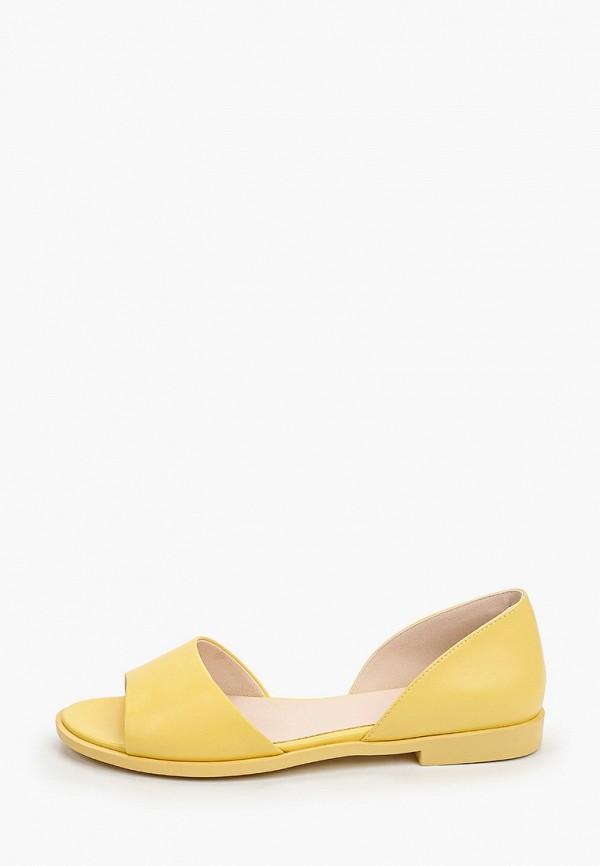 женские туфли с открытым носом instreet, желтые