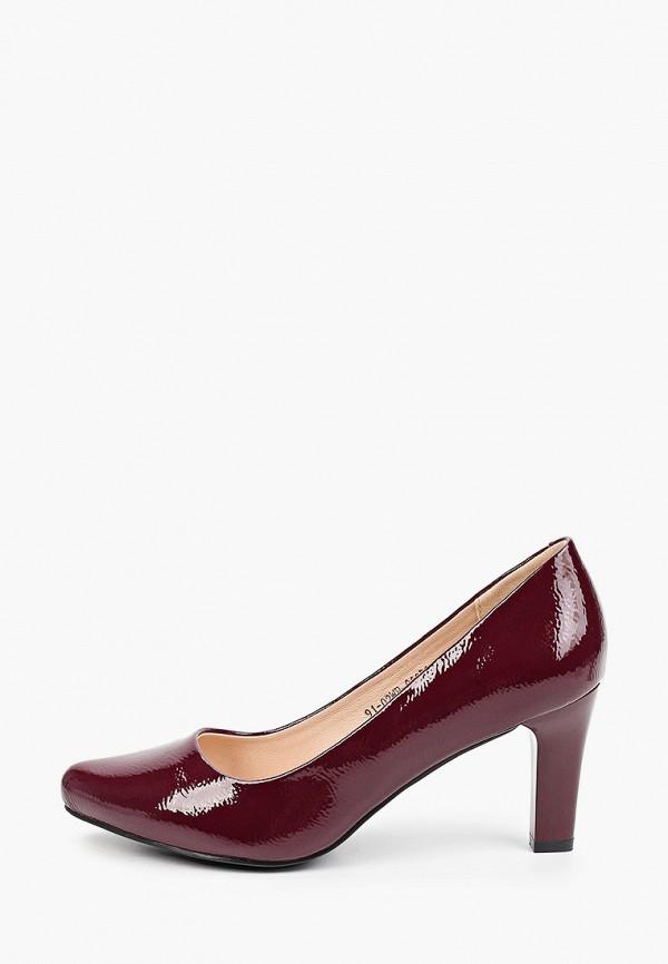 женские туфли с закрытым носом zenden, бордовые