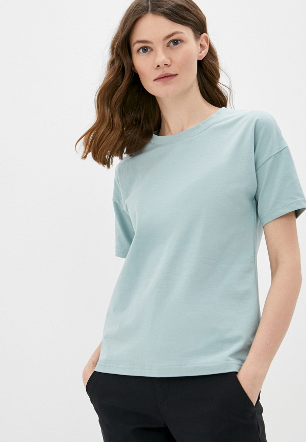 женская футболка minaku, бирюзовая