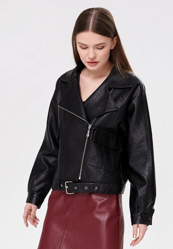 женская куртка косухи shelter, черная
