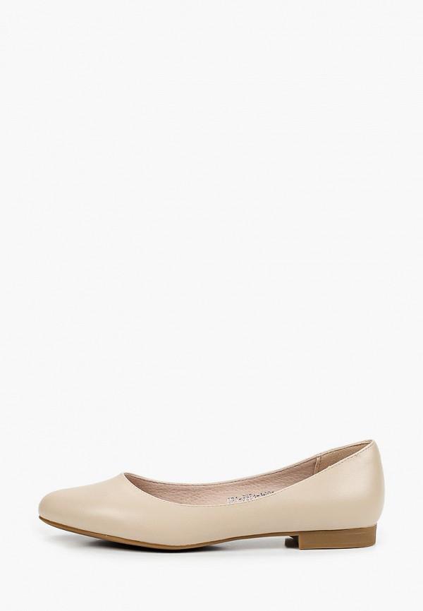 женские туфли с закрытым носом lolli l polli, бежевые