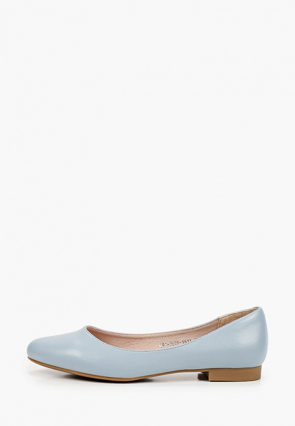 женские балетки lolli l polli, голубые