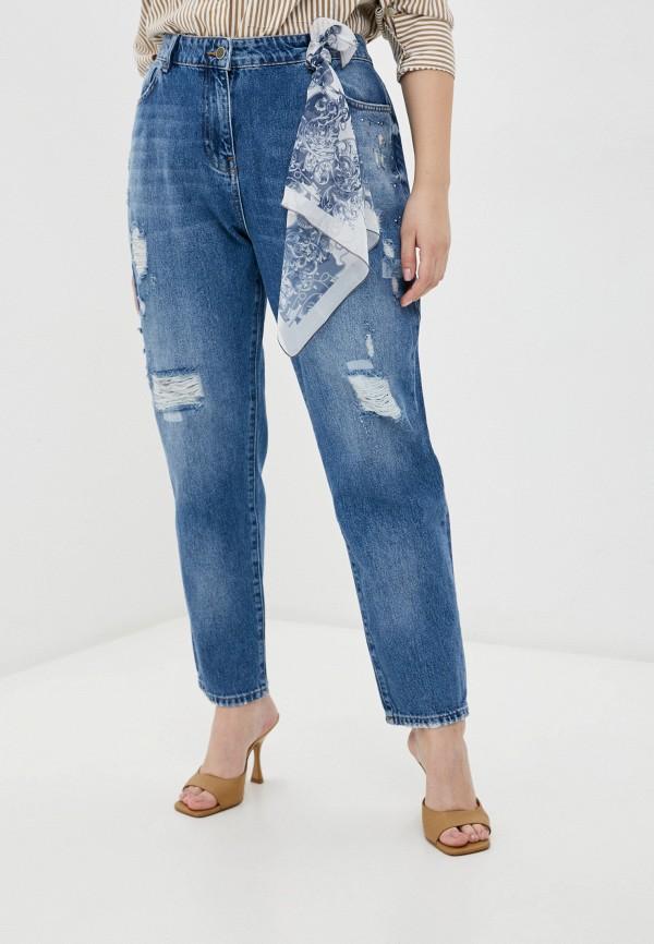 женские прямые джинсы franco vello, голубые