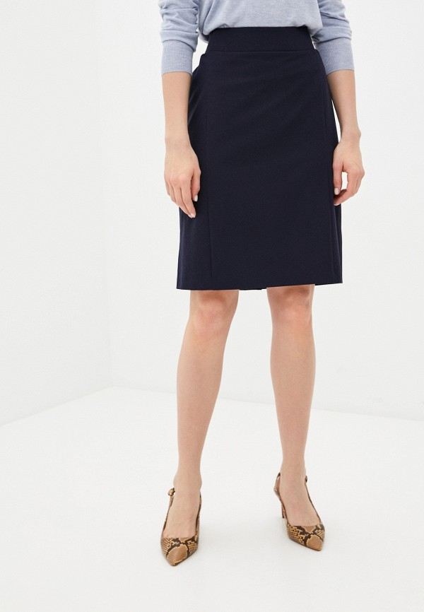 женская прямые юбка franco vello, синяя