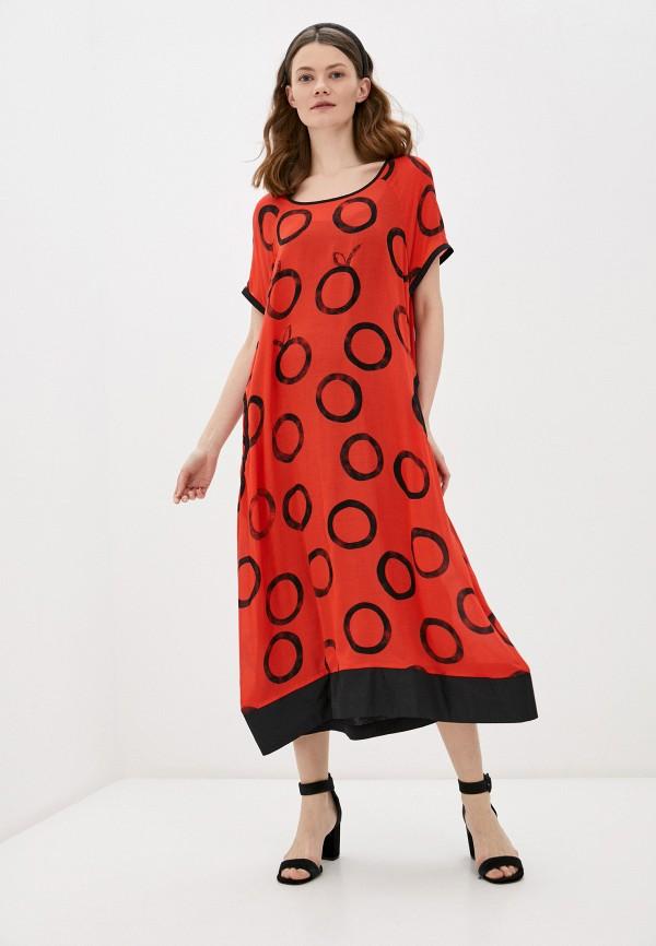 женское повседневные платье franco vello, красное
