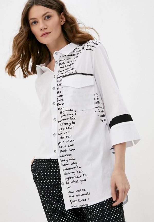 женская рубашка с длинным рукавом franco vello, белая