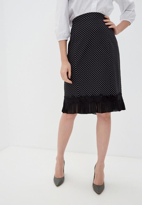 женская прямые юбка franco vello, черная