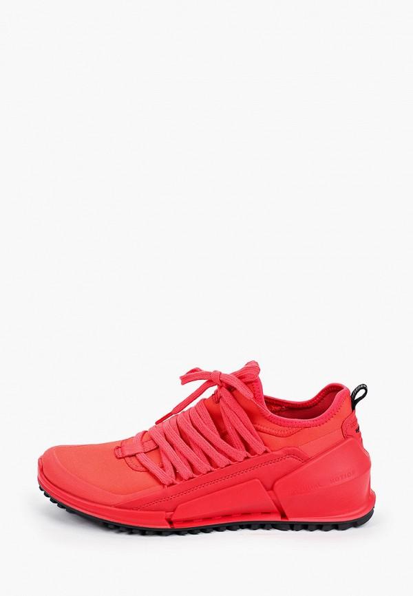 женские низкие кроссовки ecco, красные