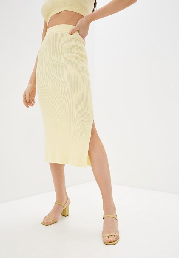 женская узкие юбка top top, желтая