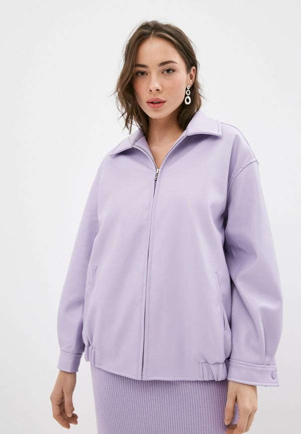 женская кожаные куртка top top, фиолетовая