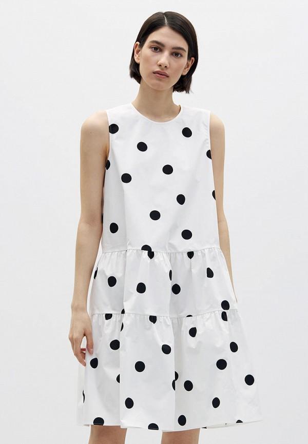 женское повседневные платье lime, белое