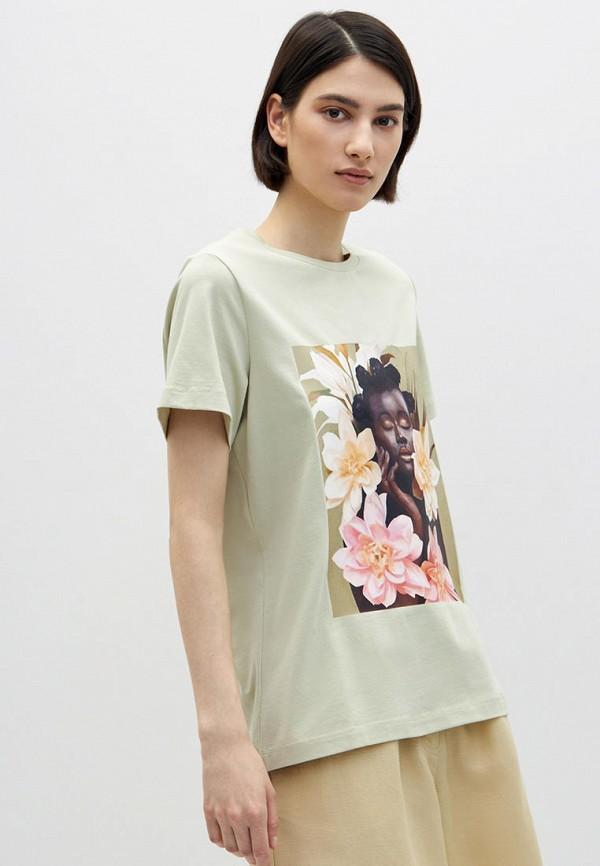 женская футболка lime, хаки